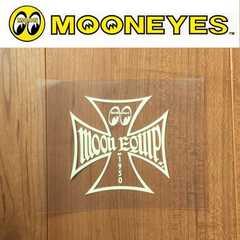 【送料無料】ムーンアイズ 転写ステッカー MOONEYES/クロスIV