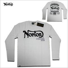 即決新品 NORTON 長袖Tシャツ L☆ロンT ノートン ストリート白2017