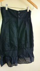 ■秋物美品JEANASIS黒2way裾フリルスカート■
