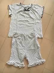 かわいい半袖短パンドットパジャマ80�p