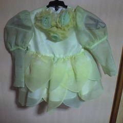キッズ黄緑 妖精ドレス 3才用 七五三・お祝い等に