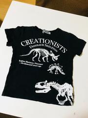 男の子、黒、恐竜、Tシャツ、110