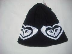 wb752 ROXY ロキシー ニット帽 ビーニー 黒