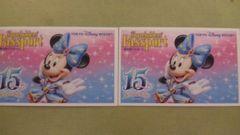 新イベントに!ディズニーシー15周年記念柄☆株主パスポートペア
