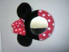 ミニーマウス ボールチェーン付き鏡 未使用品