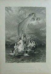 絵画 銅版画 ウィリアム・エッティ『YOUTH AND PLEASURE』巨匠