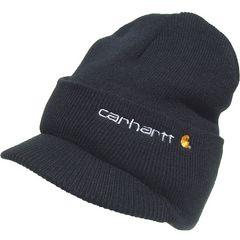 帽子♪CARHARTT バイザー付き ニットキャップ ニット帽*ブラック