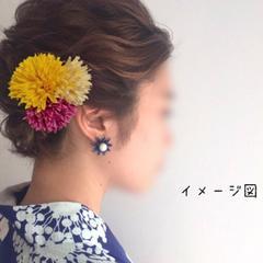 髪飾り ヘアーアクセサリー ヘアピン ハンドメイド 浴衣夏祭り