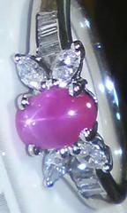 ※Pt900※スタールビー/天然ダイヤモンド