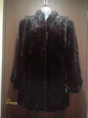 古着屋15ー17号★大きいサイズ/ブラックミンクコート