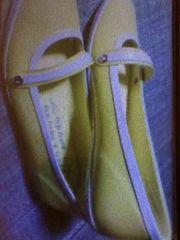 新品 レディースシューズ エナメル イエロー 黄色 くつ 靴 24�p