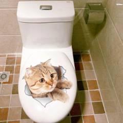 送料無料★3D 猫 ウォール ステッカー シール 動物 ねこ ネコ アニマル 壁