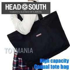 新品 HEAD SOUTH 大容量 トートバッグ メンズ レディース 黒