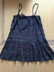 ヴェールダンス vertdense 2ウェイ フリルスカート キャミ M紺
