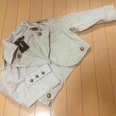 新品◆chu xxx◆襟ワイヤー入◆七分袖ボレロジャケット◆綿麻L