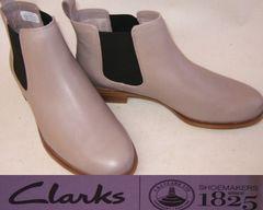 クラークス 新品サイドゴア ショートブーツ26111966uk3