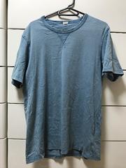 美品 GU  デニム風Tシャツ 半袖 メンズL