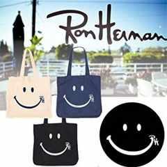 Ron Hermanロンハーマン【新品】スマイルロゴ入りトートバッグ白