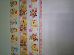 25mm巾 ダッフィ&クッキーアン柄リボン☆3種類セット☆計3M
