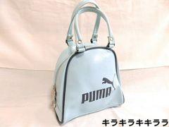 ★PUMA/プーマ★ダブルジッパー*ミニボストンバッグライトブルー