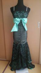 高級ドレス♪購入価格2万円♪美品エメラルドグリーン