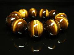 最強金運パワーストーン 虎目石タイガーアイブレスレット 特大20ミリ数珠