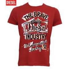 DIESEL Tシャツ メンズ レッド ディーゼルL