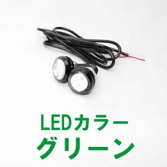 LEDスポットライト グリーン 2個 12V 1.5W 防水