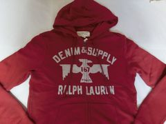 USA購入 RALPHLAUREN DENIM & SUPPLY フルジップパーカーUS L 赤