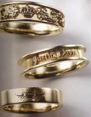 ◆K18◆新品◆JUSTIN DAVIS◆IMPRESSION RING◆17号◆216,000円
