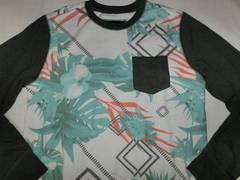 USA購入【Hurley】南国風ポケット付スウェットトレーナーUS XL