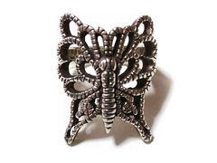 良品 Moussy マウジー SILVER925【銀製】チョウチョ指輪