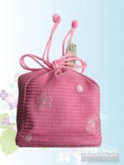 【和の志】浴衣用巾着◇ピンク系・小花柄◇KYK-20