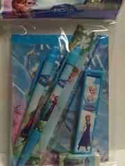 アナと雪の女王6点文具セット消しゴムシャープペンボールペン定規メモ帳