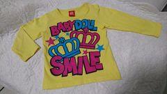 ★BABY DOLL★黄色のロングTシャツ�@★サイズ90・美品★