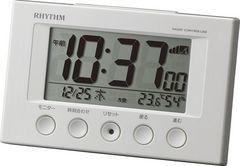 リズム時計 電波 デジタル フィットウェーブスマート 白