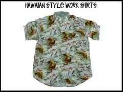新品 アロハ・ハワイアンスタイル S/S半袖シャツ (2XL)#221