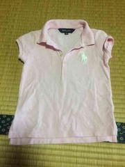 美品 送料込 ラルフローレン ポロシャツ キッズ 半袖 ピンク 110