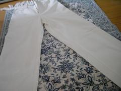 ホワイトロングパンツ【大きめ58】