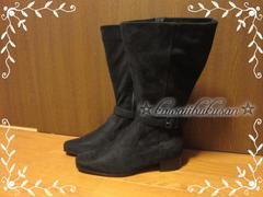 新品 [26.5cm×4E] Blackブーツ*大きいサイズ