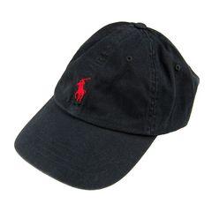 新品 ポロ ラルフローレン/ポニー刺繍キャップ/黒/POLO 帽子