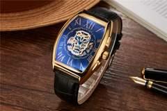 新作新品◆フランクミューラータイプ自動巻き腕時計◆スカルフェイス◆