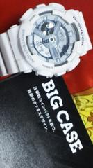 カシオ白GショックビックケースビックフェイスGA-110C腕時計アナログ+デジタル液晶