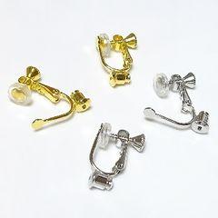ネジバネ イヤリングコンバーター(カバー付)■金か銀