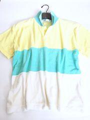 新品<パステルカラー>タオル地半袖シャツ(ミント)Lサイズ