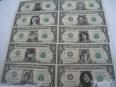 アメリカドル紙幣 1ドル紙幣10枚 実物加工品