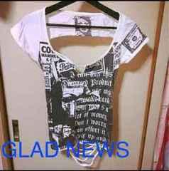 GLAD NEWS★ダメージTシャツ&ベアセット