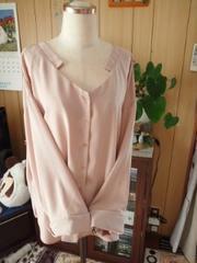 新品4Lピンク シンプルシャツ