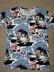 ヒスグラ和柄Tシャツ★スカル新品同ビンテージ和柄アロハ着物柄