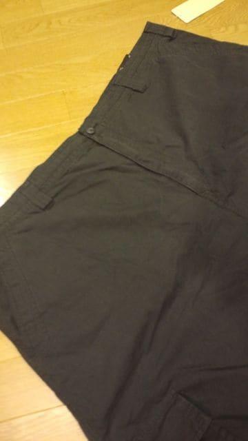 TrilogyVINTAGE カーゴハーフパンツ ウォッシュ 黒 サイズW48 ウエスト125cm < 男性ファッションの
